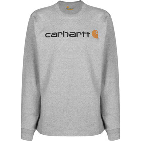 Carhartt Core Logo Longsleeve Top Men heather grey